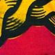 wax girafe rouge et jaune