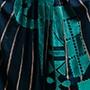 jupe bleu nuit turquoise